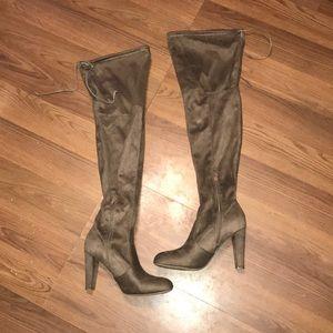 OTK Tie Heeled Boots